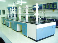 Biology Laboratory Island Bench Adjustable Feet H / C High Strength Steel Frame