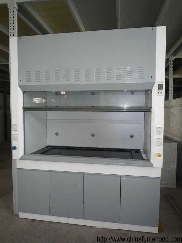 Grey / White Steel Fume Hood 0.8-1.0M Door Open Height Adjustable Air Volume