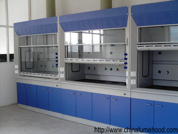 Steel Structure Laboratory Fume Hood High Temperature Resistant Adjustable Footing