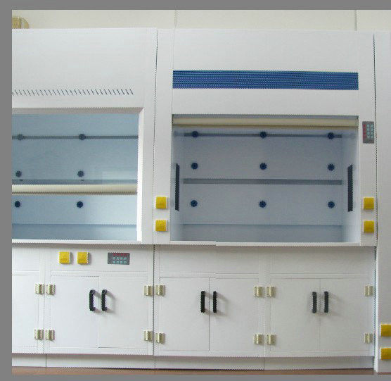 Polypropylene Fume Hood Adjustable Window Height With Full Cover Type Lighting
