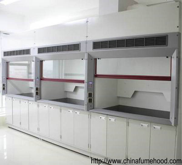 PP Structure Ducted Fume Hood Ventilation Systems AC220V Power Sockets