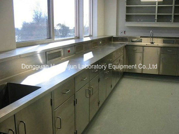 Customized Stainless Steel Lab Furniture , 1.2mm Bench Top Science Lab Workstations