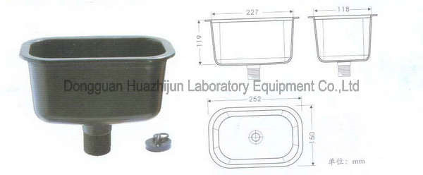 PP Sink Laboratory Fittings , Drop In Type Alkali / Acid Resistant Lab Sink