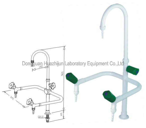 Universal Gooseneck Laboratory Fittings Bench Top Water Taps With PP Handle