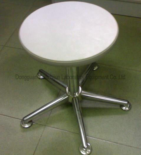 Pneumatic Adjustable Lab Stool Round Swivel Type Without Back / Arms
