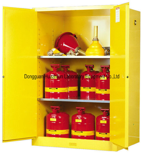 Liquids Flammable Safety Cabinet , Two Shelves Flammable Chemical Storage Cabinet