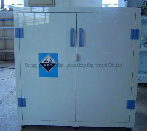 PP Material Laboratory Storage Cabinets , Dual Doors Acid Base Storage Cabinet