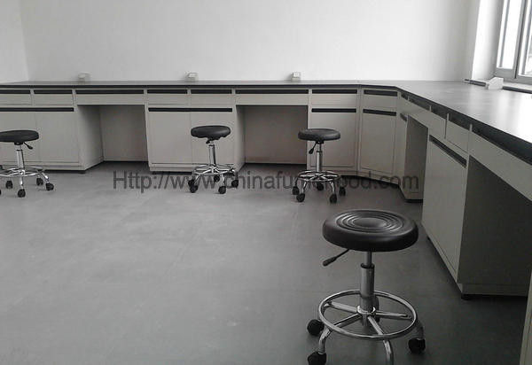 Chemical Resist Laboratory Workbench Furniture Sidebench Electric Supply Optional