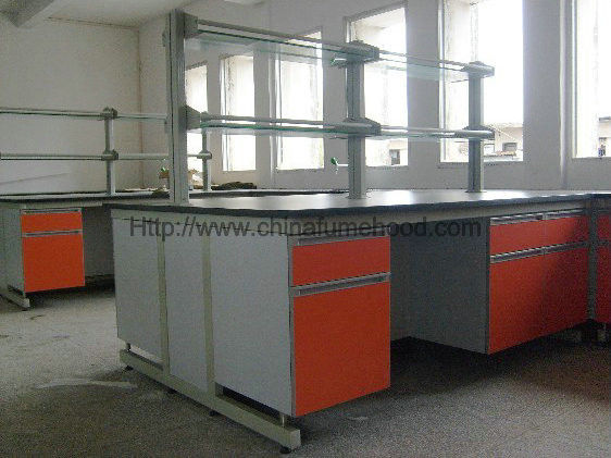 Heat Resistant Laboratory Working Table Lab Casework 3000*1500*850mm