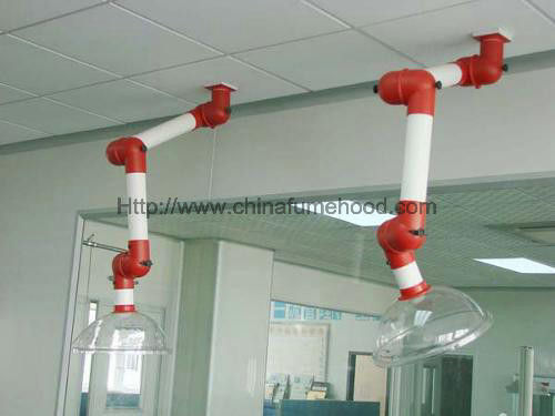 Safety 3 Joint Laboratory Fittings, Polypropylene Flexible Extraction Arm