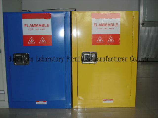 Non - Riveting Flammable Safety Storage Cabinets With Striking Reflective Labels