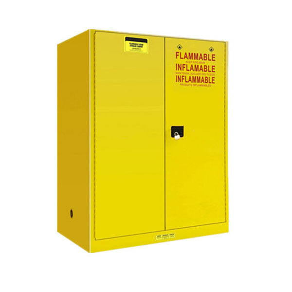 Hand Type Flammable Safety Cabinet Single Door Welded Baffles - Linked Partitions