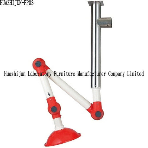 Wall Mounted Laboratory Fittings Fume Extractor Exhaust Arms 304 SS Center Bolt