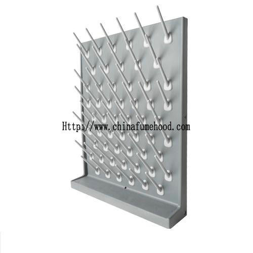 PP Pegboard Laboratory Fittings Removable Lockable Plastic Dripping Rack