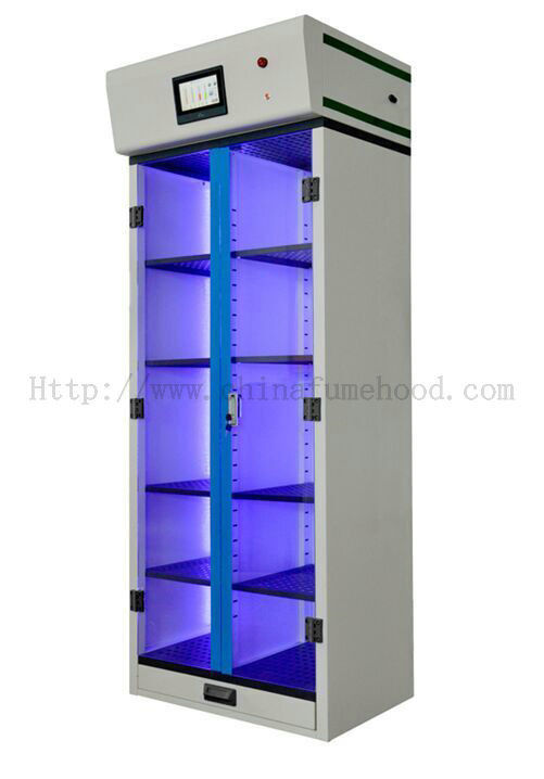 Medicine Laboratory Storage Cabinets , Filtered Ductless Metal Storage Cabinet