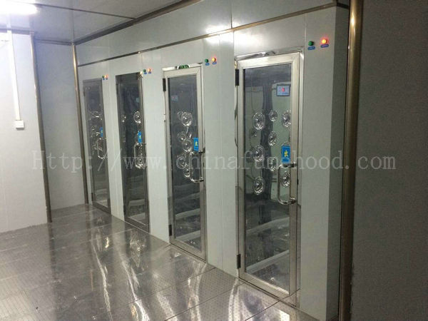 Double Person Clean Room Equipment Interlock Air Shower Automatic Open