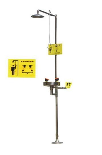 Safety Laboratory Fittings , Stainless Steel Emergency Eyewash Shower