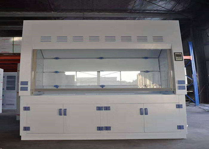 Agricultural Lab PP Fume Hood 8-10mm White Worktops 220V Power Sockets